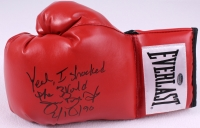 "Buster Douglas Signed Everlast Boxing Glove Inscribed ""Yeah I Shocked The World 2/10/90"" (Schwartz COA) at PristineAuction.com"