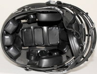 New York Jets Custom Matte Black Full-Size Authentic Proline Helmet with Chrome Decals at PristineAuction.com