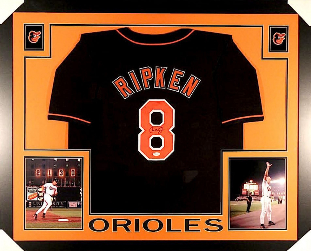 767bda0ef Cal Ripken Jr. Signed Orioles 35x43 Custom Framed Jersey (JSA COA) at  PristineAuction