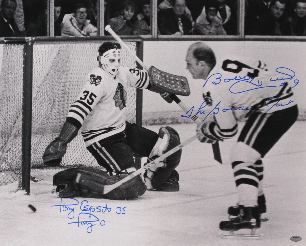 Bobby Hull Blackhawks 16 Online Sports Memorabi...