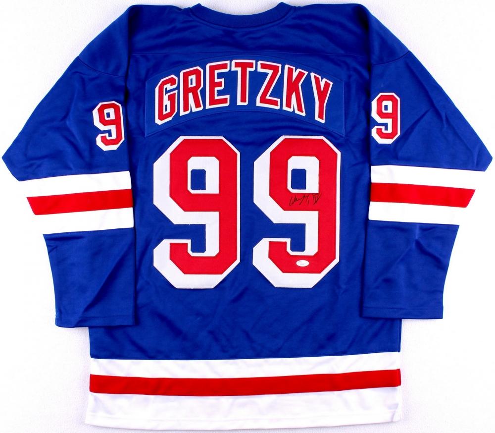 Wayne Gretzky Signed Rangers Jersey (JSA LOA) at PristineAuction.com 8efd5a100a7