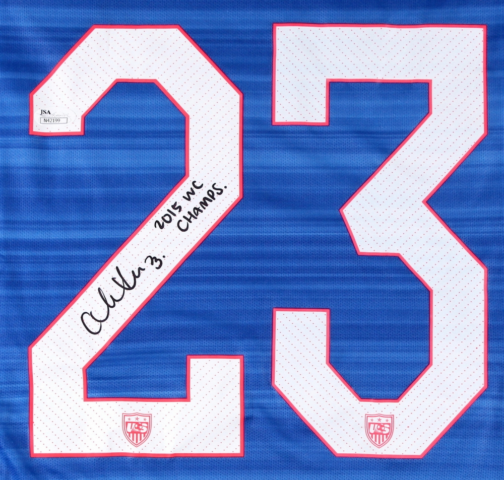 d36cf9423f7 Christen Press Signed Team USA Jersey Inscribed