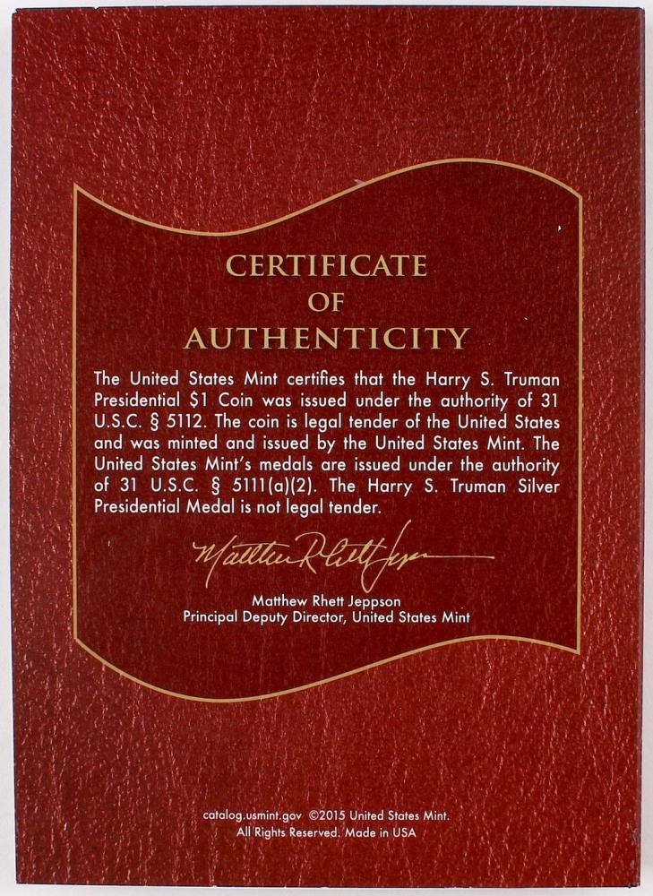 2015 Harry Truman Coin & Chronicles Set | Pristine Auction