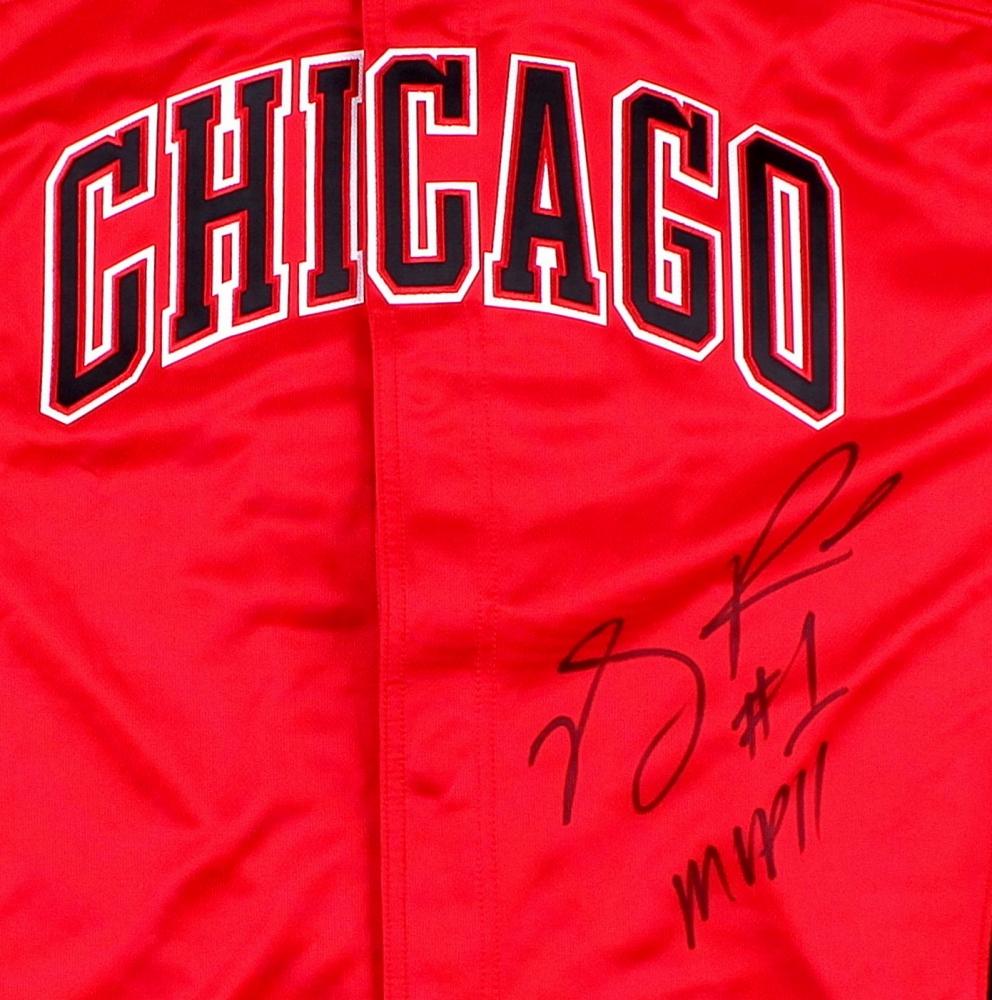 derrick rose signed jersey