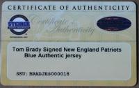 "Tom Brady Signed Patriots 35"" x 43"" Custom Framed Jersey (Steiner COA & TriStar) at PristineAuction.com"
