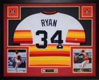 Nolan Ryan Signed 35x43 Custom Framed Jersey (JSA COA) at PristineAuction.com