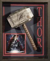 "Stan Lee Signed ""Thor"" 21x25x4 Custom Framed Shadowbox Display (JSA COA & Lee Hologram)"
