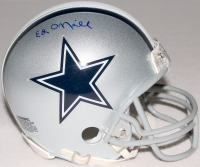 Ed O'neill Signed Cowboys Mini-Helmet (Schwartz COA)