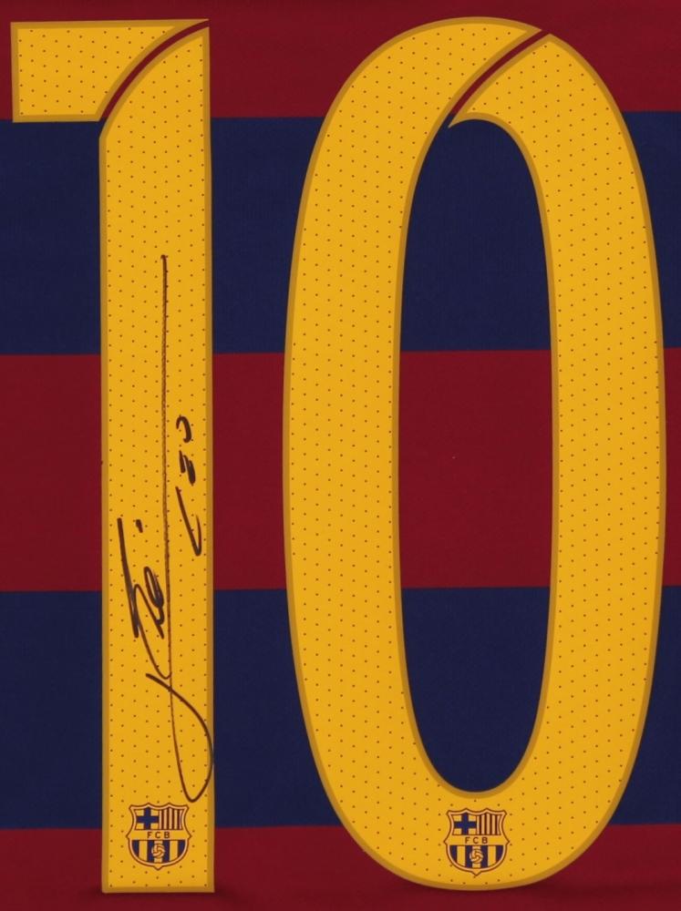 cc935e512d1 Lionel Messi Signed Barcelona Jersey (Messi COA) at PristineAuction.com