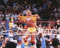 Hulk Hogan Signed Hulkamania 16x20 Photo (Schwartz COA) at PristineAuction.com
