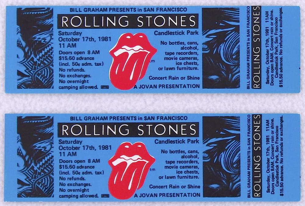 Lot Of 2 Authentic Rolling Stones Tattoo You Tour 1981 Original Unused