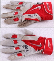 "Mike Trout Signed Angels 2015 Nike Game-Used Batting Gloves Inscribed ""15 GU"" (JSA LOA & Anderson LOA)"