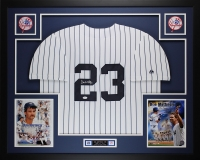 "Don Mattingly Signed Yankees 35"" x 43"" Custom Framed Jersey (JSA COA)"