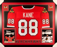 "Patrick Kane Signed Blackhawks 35"" x 43"" Custom Framed Jersey (JSA COA) at PristineAuction.com"