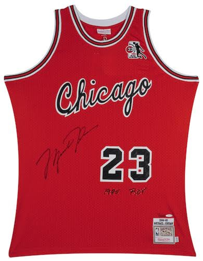 147668e019fc46 Michael Jordan Signed Limited Edition Bulls Authentic Rookie Mitchell   Ness  Jersey Inscribed
