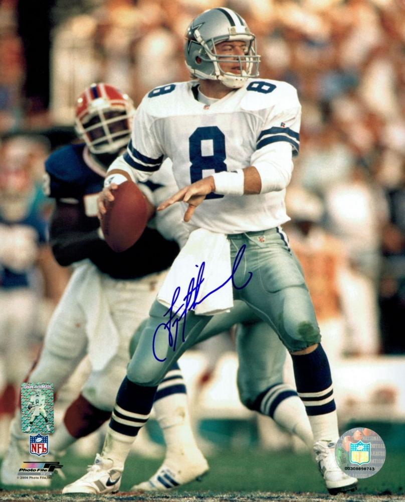 foto de Troy Aikman Signed Cowboys 8x10 Photo (Aikman Hologram