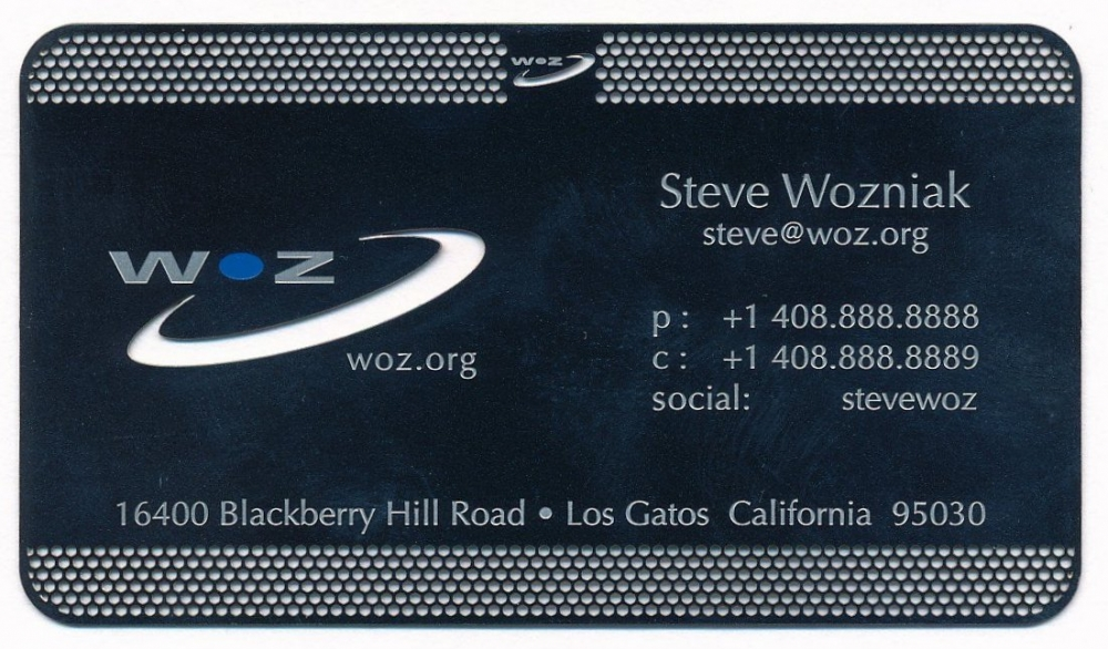 Online sports memorabilia auction pristine auction steve woz wozniak signed one dollar bill with rare metal business card jsa reheart Images