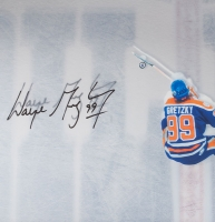 Wayne Gretzky Signed Oilers 18x30 Custom Framed Acrylic Display (UDA COA) at PristineAuction.com