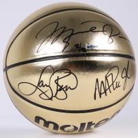 Michael Jordan, Larry Bird & Magic Johnson Signed LE Molten Gold Basketball (UDA COA) at PristineAuction.com