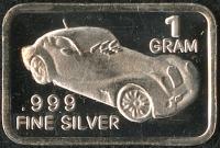 1 Gram .999 Silver Vintage Car Bullion Bar