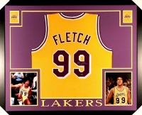 """Chevy Chase Signed """"Fletch"""" #99 Lakers 35x43 Custom Framed Jersey (Steiner COA)"""