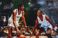 "Michael Jordan & Magic Johnson Signed ""Remember The Times"" LE 16x24 Photo (UDA COA)"