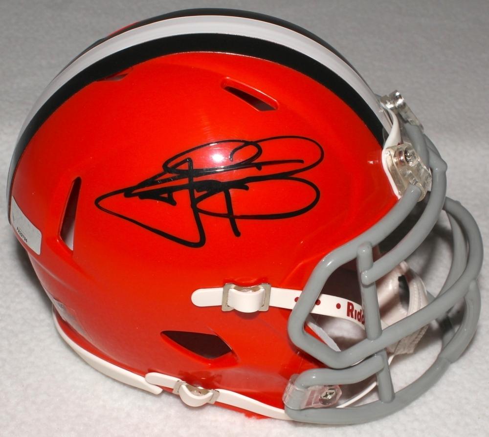 Johnny Manziel Signed Browns Mini-Helmet (Panini COA) at ...