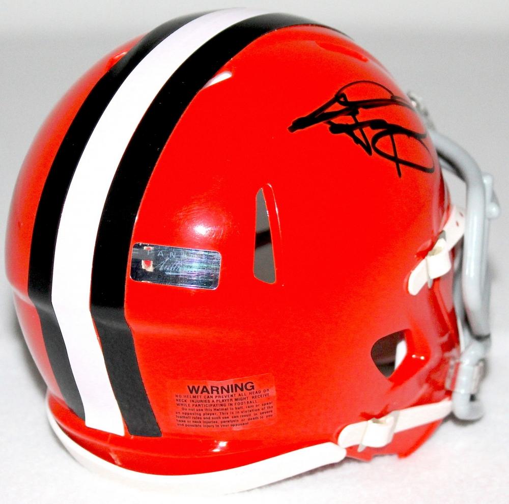 mini helmet hand-signed in black felt tip pen by Johnny Manziel ...