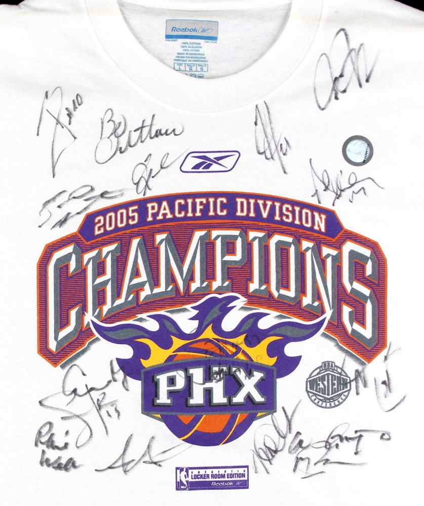 2005 Phoenix Suns Division Champions T-Shirt Signed by (16) with Steve Nash 3e877f42b
