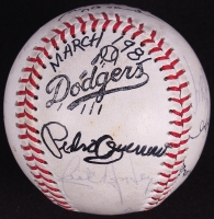 Vintage Dodgers Logo Baseball Signed by (12) with Sandy Koufax, Sadaharu Oh, Steve Garvey, Tommy Lasorda, Davey Lopes (JSA ALOA) at PristineAuction.com