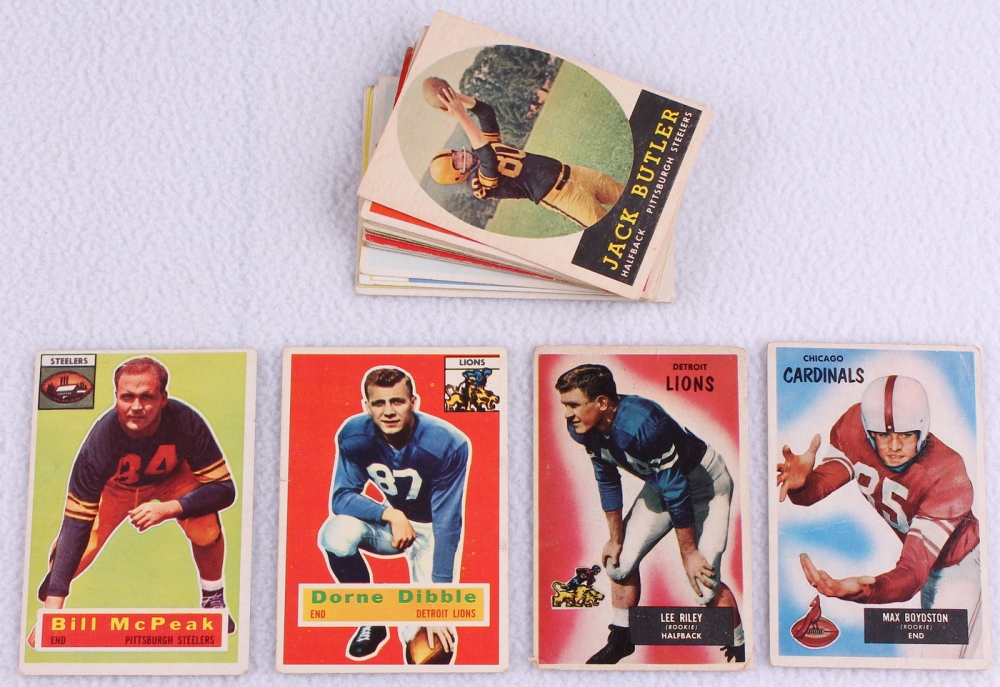 24f88ebfdb4 Lot of (27) Assorted Football Cards with 1955 Topps All American  14B  Gaynell