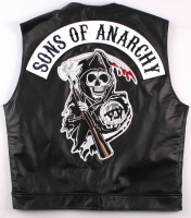 """Sons of Anarchy"" Vest with Reaper Patch (Size XL)"