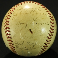 1937 New York Yankees OAL Baseball Team-Signed by (25) with Lou Gehrig, Tony Lazzeri, Lefty Gomez, Red Ruffing, Bill Dickey, Frankie Crosetti (JSA ALOA) at PristineAuction.com