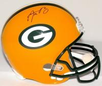 Aaron Rodgers Signed Packers Full-Size Helmet (Radtke COA & Fanatics Hologram)