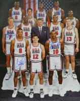 "1992 Team USA ""Dream Team"" Multi-Signed 16x20 Photo with (7) Signatures Including Larry Bird, Magic Johnson, Patrick Ewing, Scottie Pippen (Schwartz COA) at PristineAuction.com"