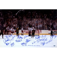 "1994 Rangers ""Victory on Ice"" 16x24 Photo Team-Signed by (19) with Mark Messier, Brian Leetch, Adam Graves, Mike Richter (Steiner COA)"