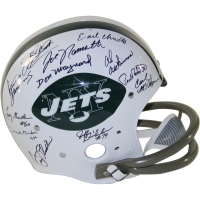 1968-69 New York Jets Full-Size Throwback Helmet Team-Signed by (24) with Joe Namath, Don Maynard (Steiner COA)