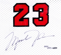 Michael Jordan Signed LE Authentic Mitchell & Ness Custom Embroidered 1984-85 Bulls Rookie Jersey #203/223 (UDA COA) at PristineAuction.com