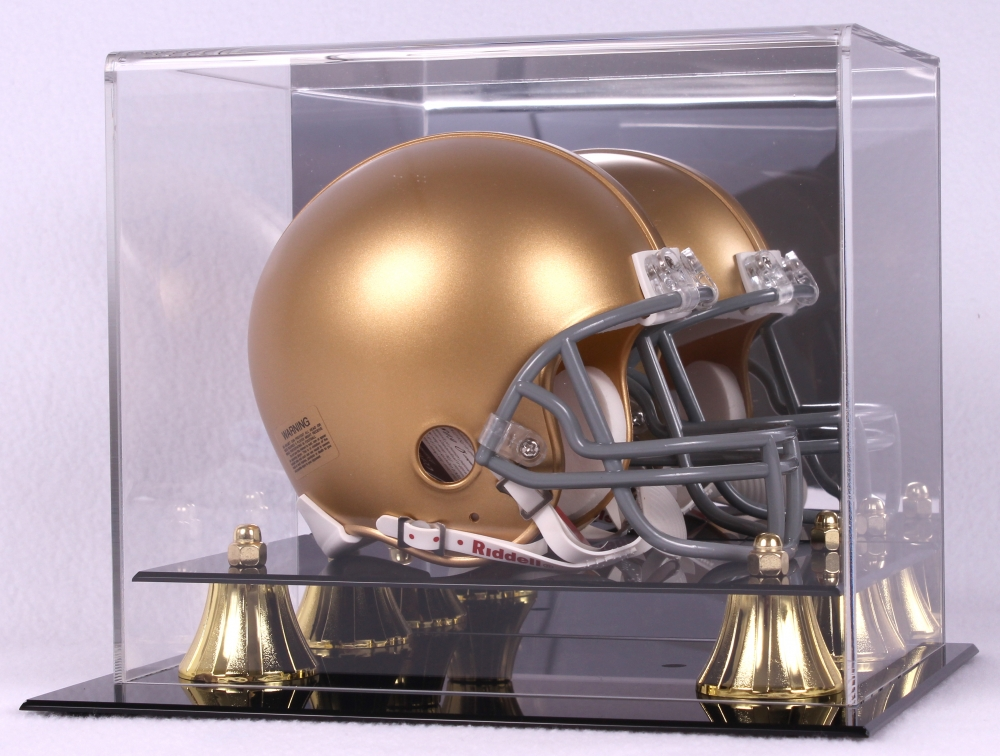 Mirrored Back Nice 1x Bcw Deluxe Acrylic Football Helmet Display Gold Risers