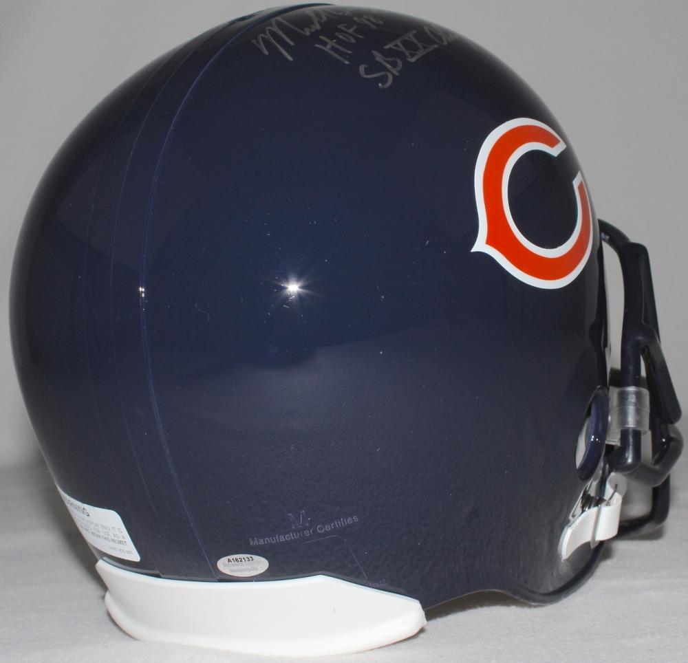 "Mike Singletary Signed Bears Mini-Helmet Inscribed ""HOF 98"" (Schwartz"