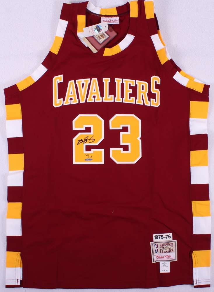 34181f1105719 LeBron James Signed 1975-76 LE Cavaliers Authentic Mitchell & Ness On-Court Throwback  Jersey (UDA COA)