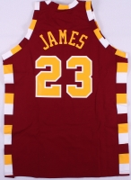 LeBron James Signed 1975-76 LE Cavaliers Authentic Mitchell & Ness On-Court Throwback Jersey (UDA COA) at PristineAuction.com