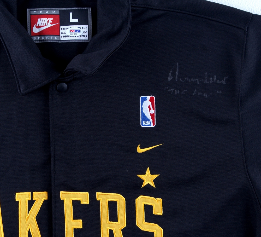 a02db1707 Jerry West Signed Lakers Warm-Up Jersey Inscribed