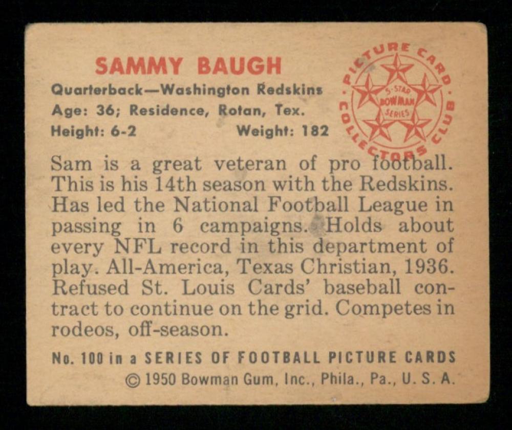 main_2-Sammy-Baugh-1950-Bowman-100-PristineAuction.com.jpg