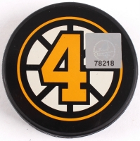 """Bobby Orr Signed Bruins """"The Flying Goal"""" Commemorative Puck (Orr COA) at PristineAuction.com"""