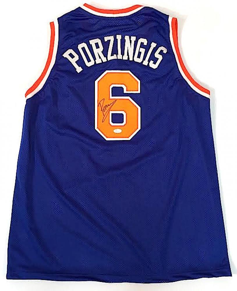 5c524c707c0f ... Kristaps Porzingis Signed Knicks Jersey (JSA COA) at  PristineAuction.com ...