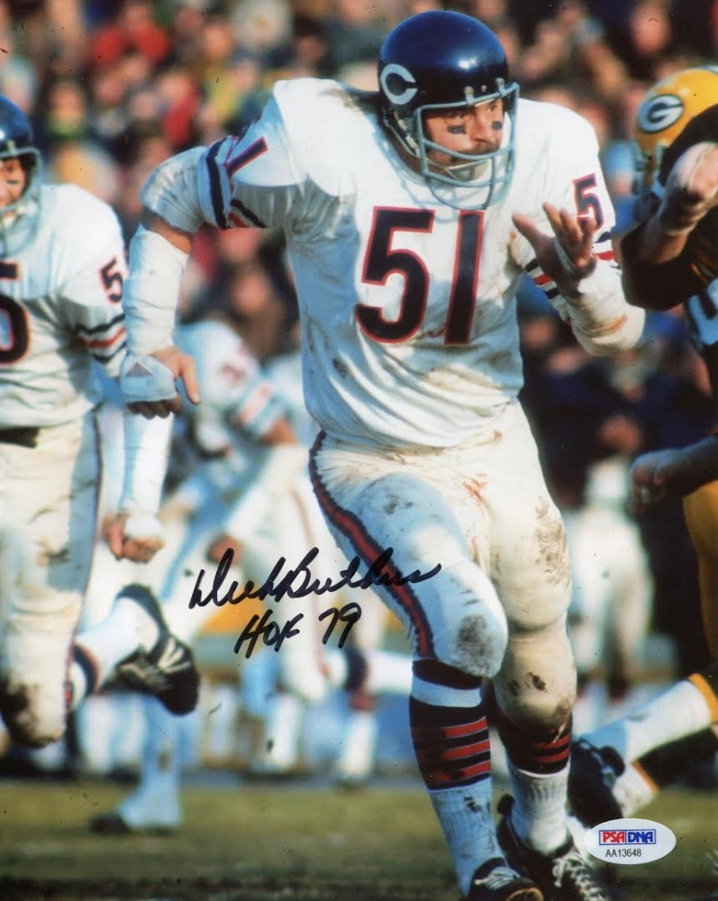 dick butkus signed photo