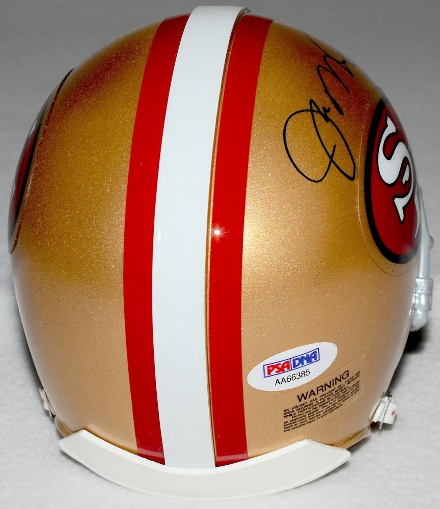 96486e2aafe Joe Montana Signed 49ers Mini Helmet (PSA COA) at PristineAuction.com