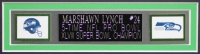 "Marshawn Lynch Signed Seahawks 35"" x 43"" Custom Framed Jersey (Lynch Hologram) at PristineAuction.com"