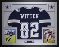 """Jason Witten Signed 35"""" x 43"""" Custom Framed Jersey (JSA COA & Witten Hologram) at PristineAuction.com"""